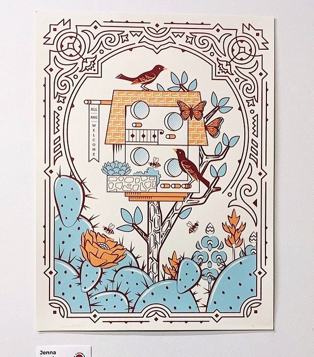 Image of Birdhouse poster