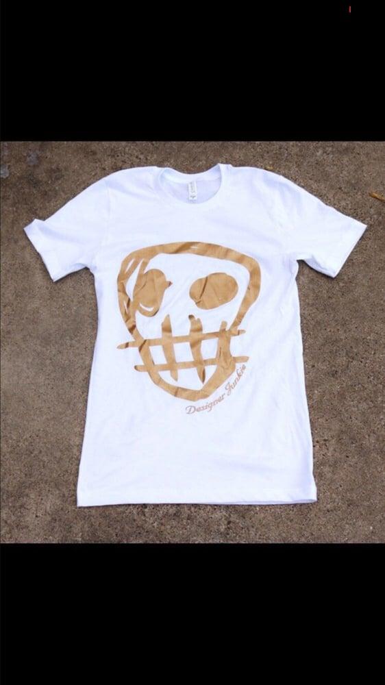 Image of Designer Junkie Big Face Signature Tee ( Gold )