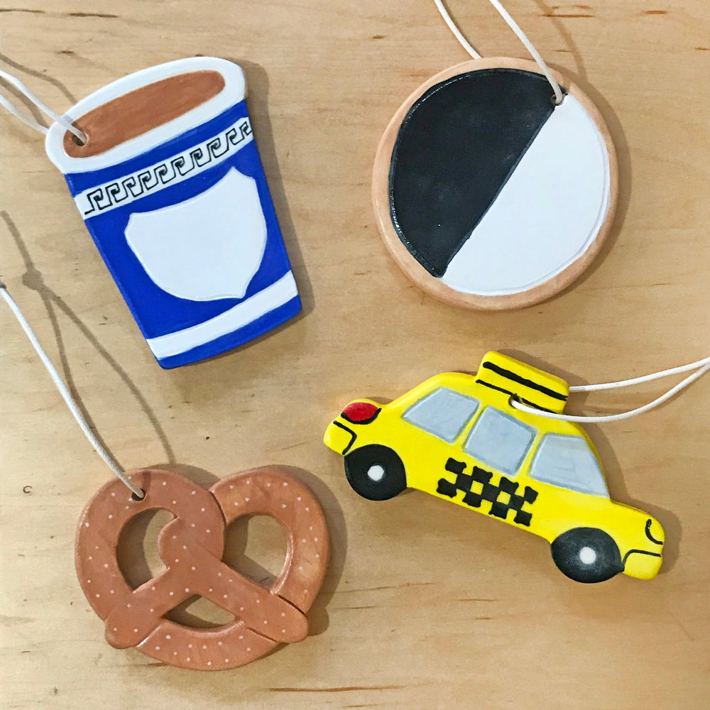 Pretzel Ceramic Ornament