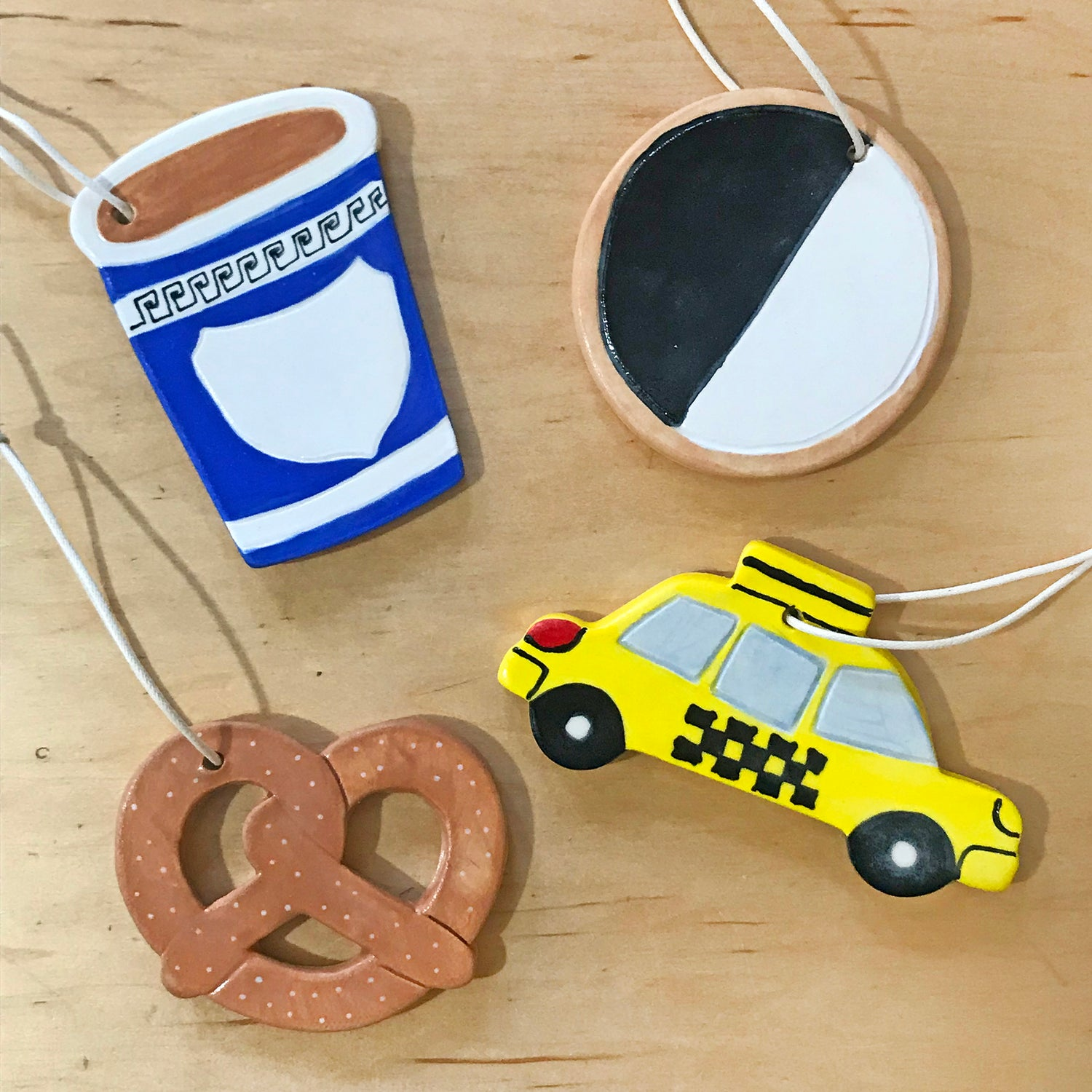 Image of Bagel Ceramic Ornament