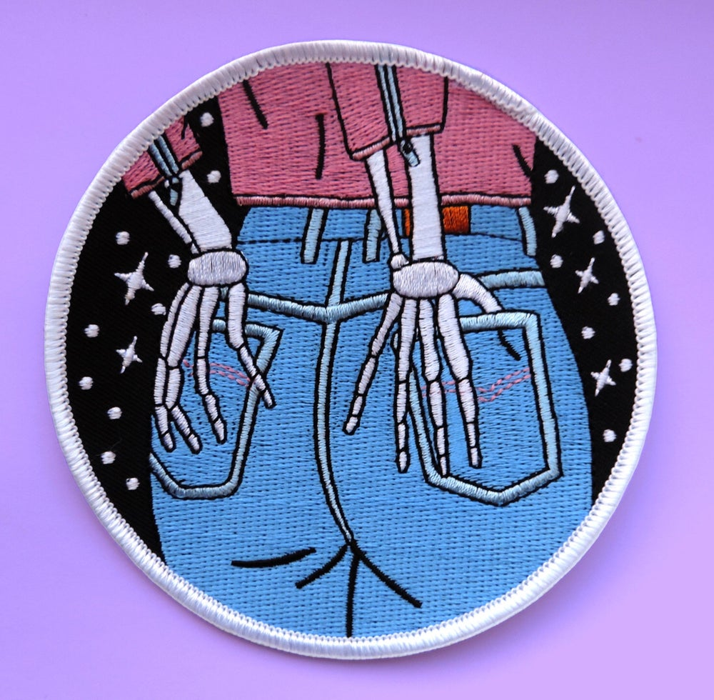 Image of Skeleton jeans patch