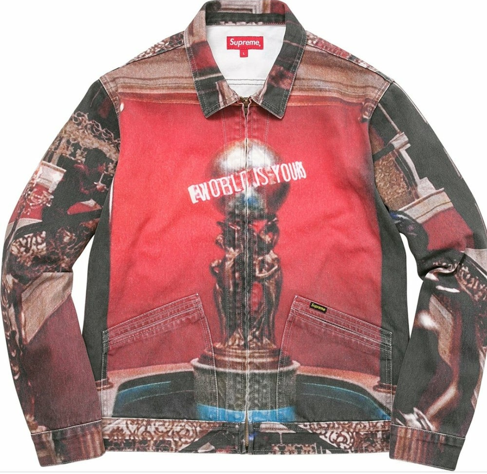 """Image of Supreme Scarface """"The World Is Yours"""" Denim Jacket"""