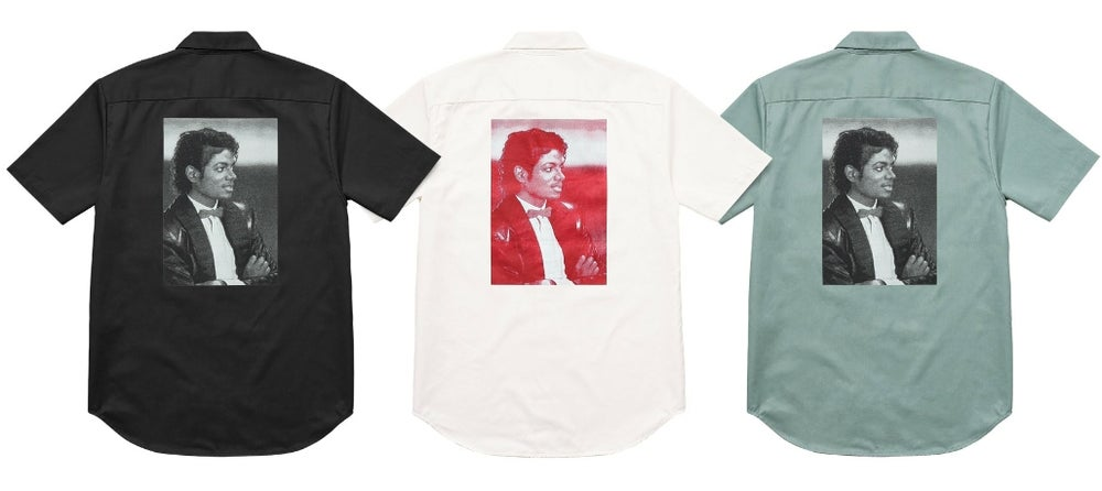 Image of Supreme Michael Jackson Work Shirt