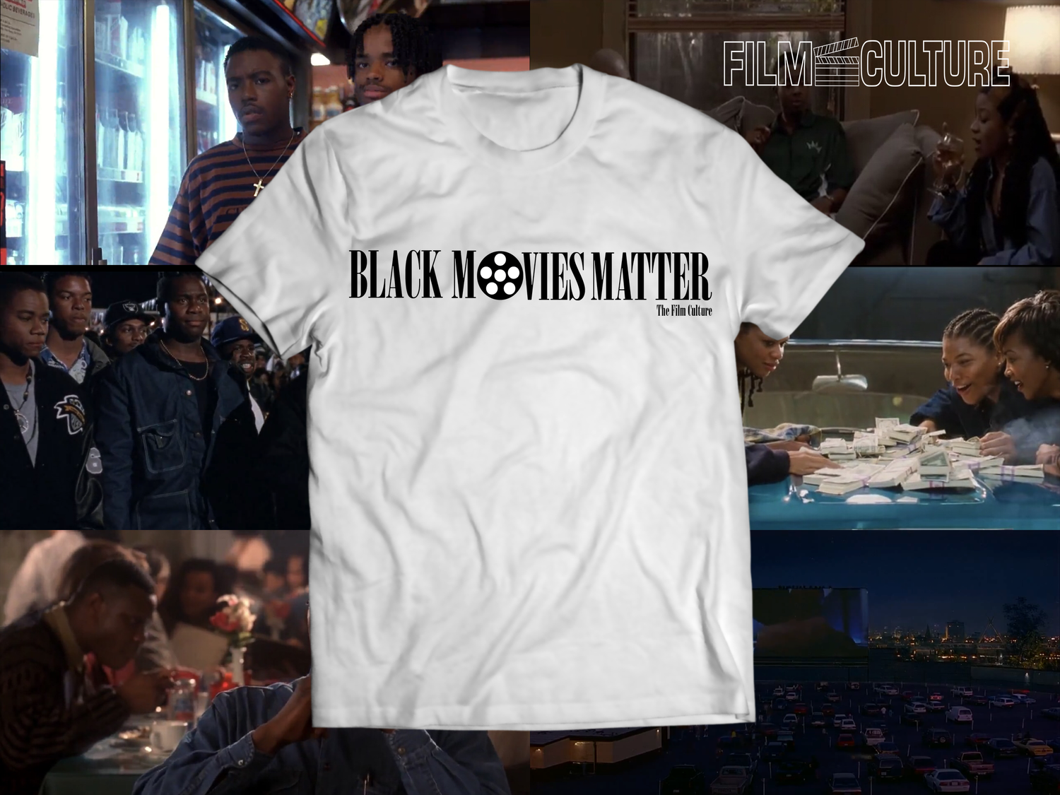 Image of Black Movies Matter - White Short Sleeve