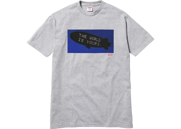 Image of Supreme Scarface Blimp Tee Grey Sz L (FREE SHIPPING)