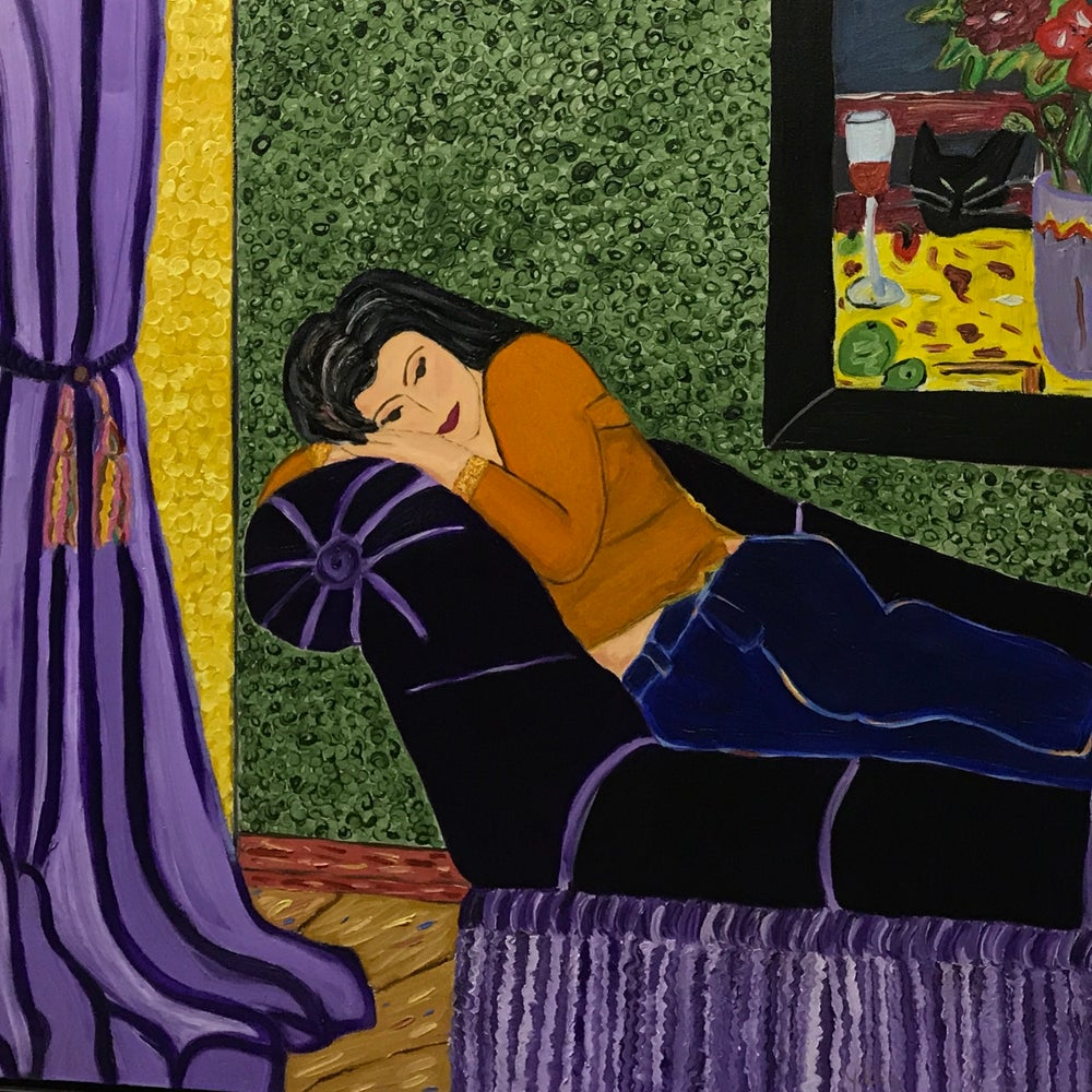 Image of Hilda and The Purple Sofa