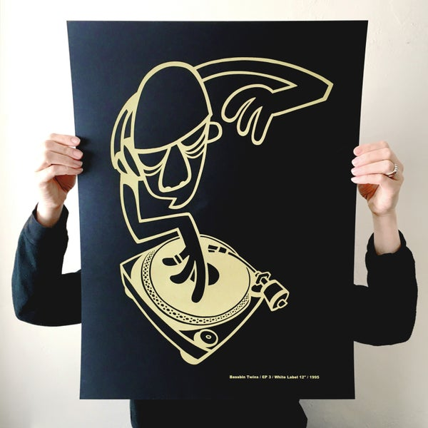 Image of 'EP 3' BLACK GOLD SCREEN PRINT