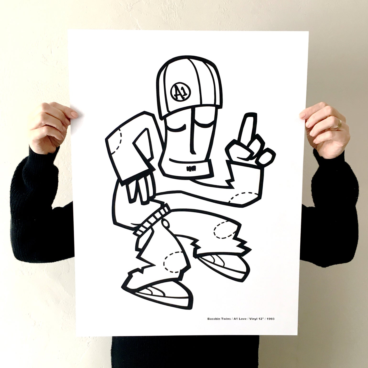 Image of 'A 1 LOVE' SCREEN PRINT