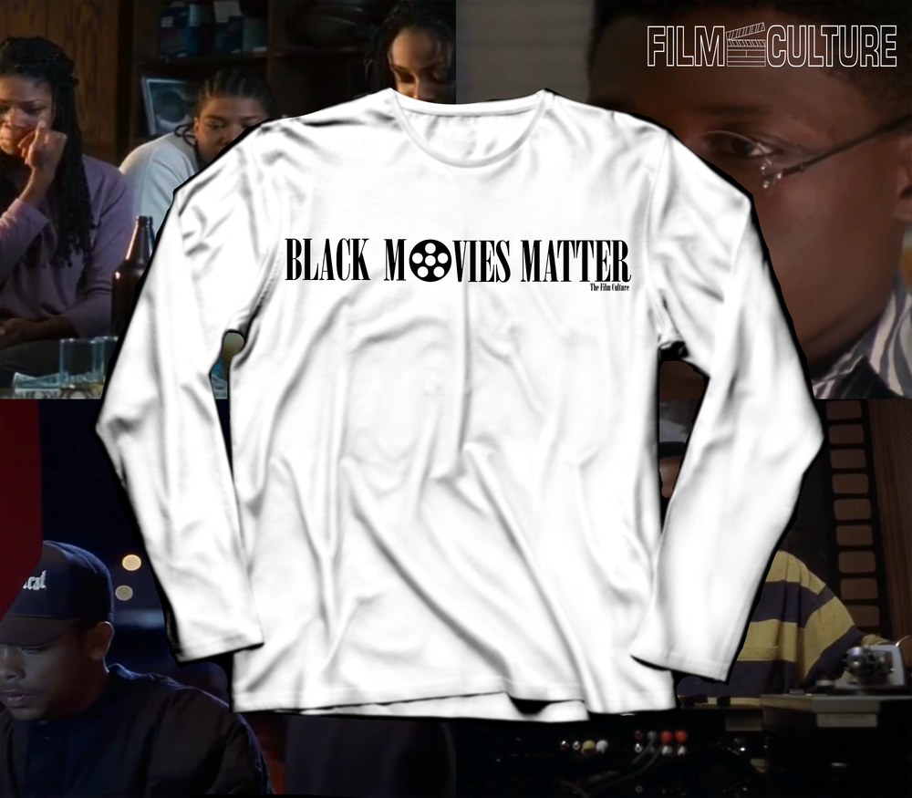 Image of Black Movies Matter - White Long Sleeve