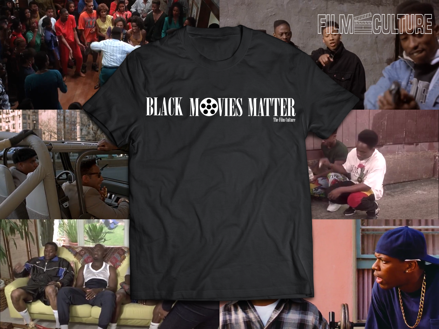 Image of Black Movies Matter - Black Short Sleeve