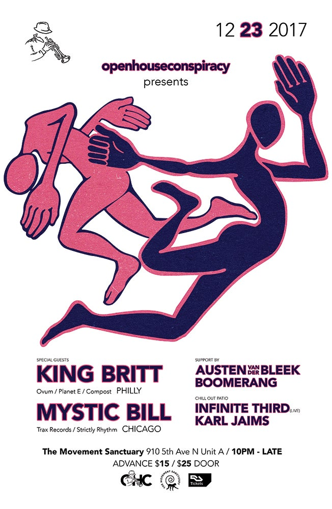 Image of King Britt + Mystic Bill Warehouse Party Ticket
