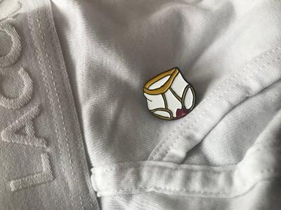 Image of Bloody Briefs enamel pin