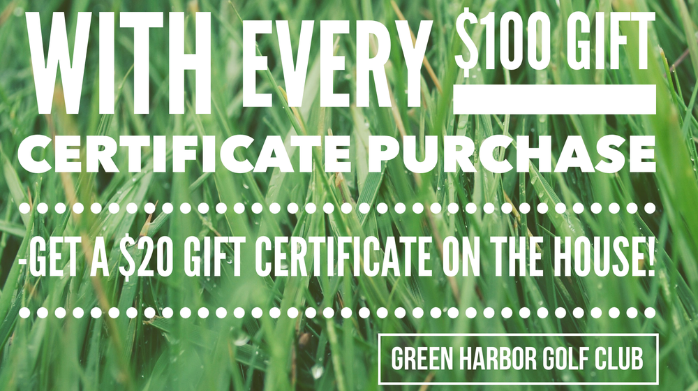 Image of $25, $50, $100 and $250 GHGC Retail Gift Certificates -