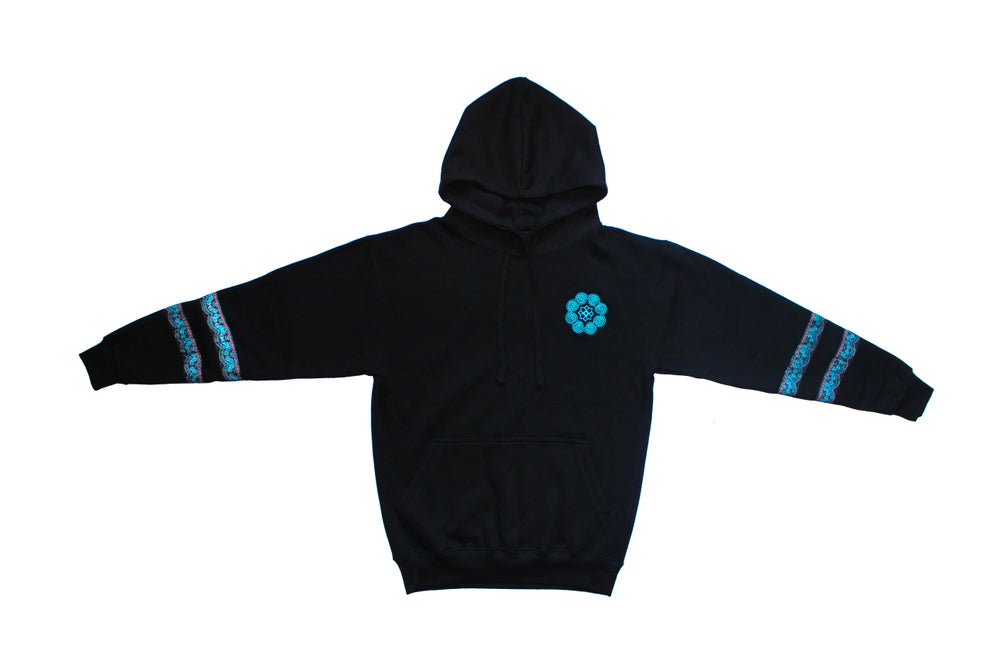 "Image of ""Roots & Culture"" Pullover Hoodie (Winter Blue)"