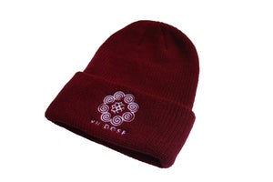 "Image of ""Roots & Culture"" Beanies (Burgundy)"