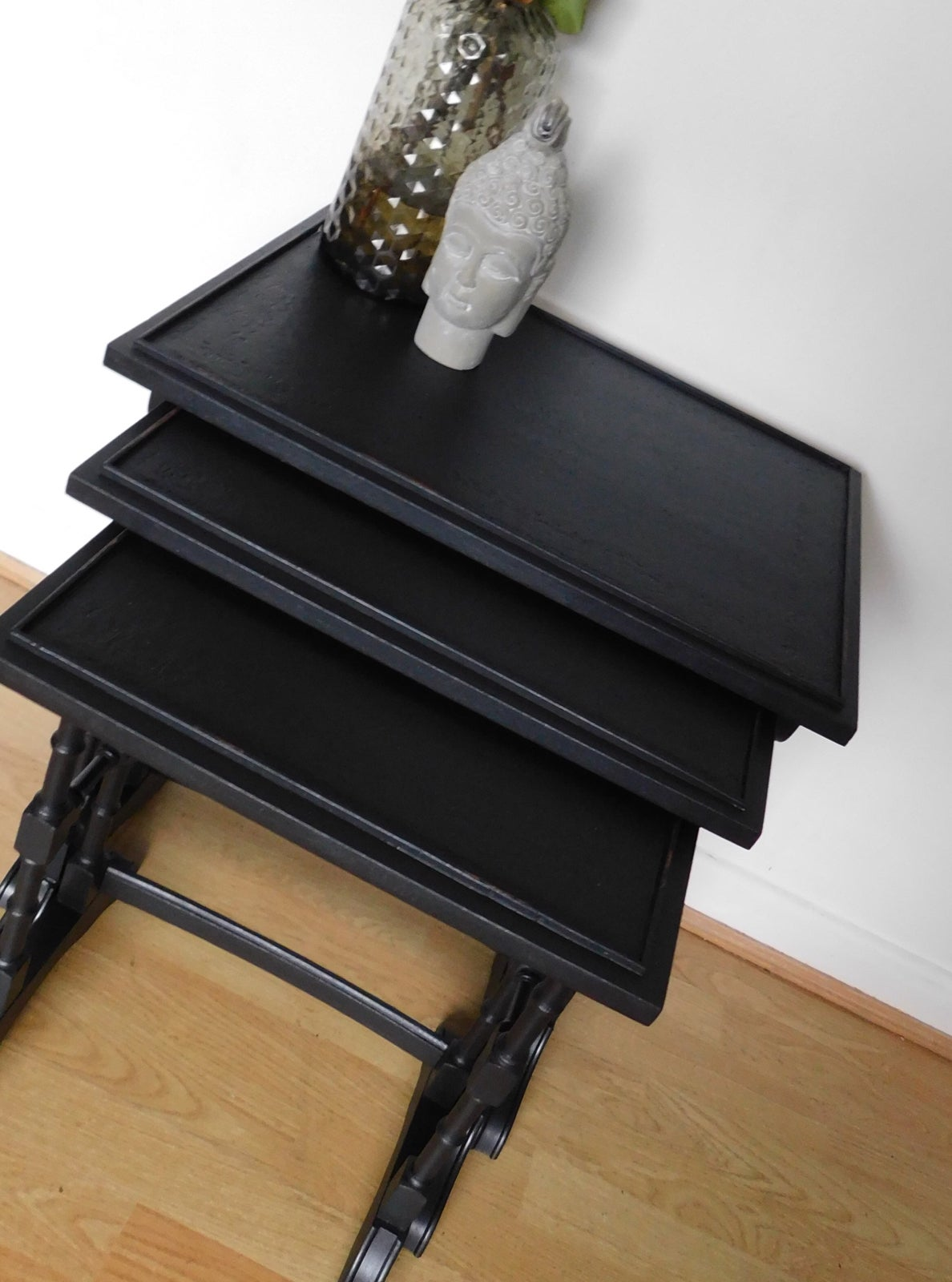 Image of Beautiful black nest of tables
