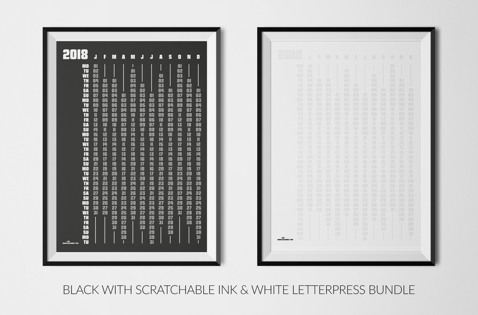 white calendars