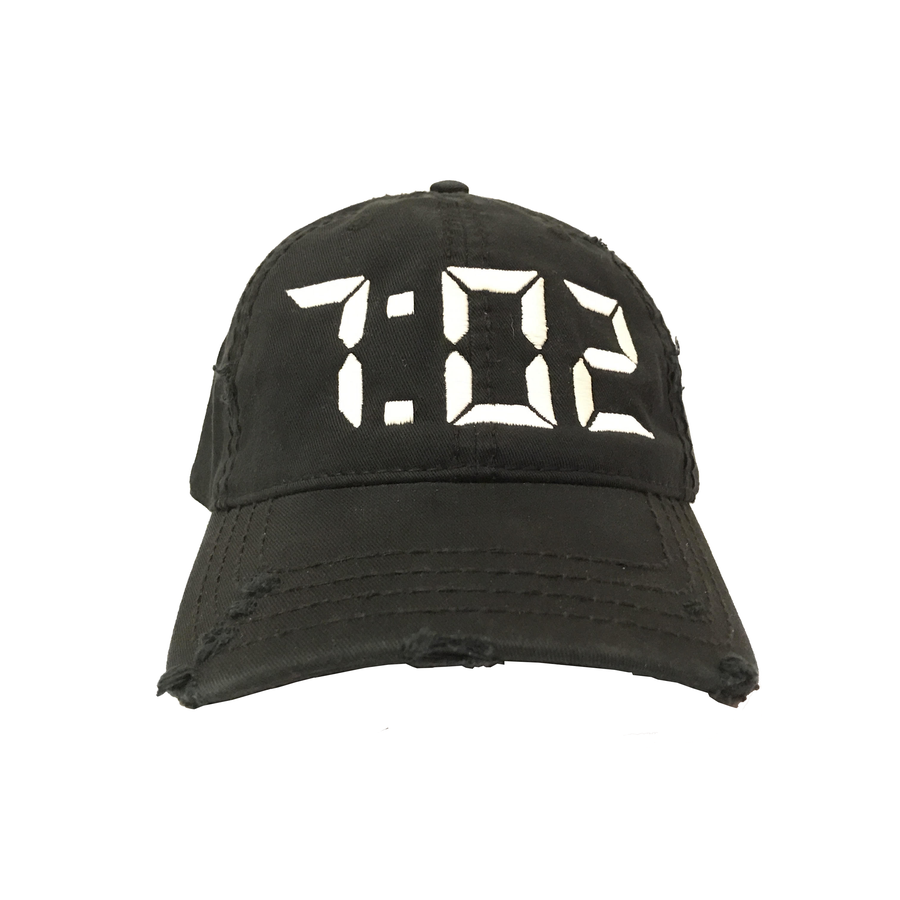 "Image of Distressed 7:02 ""HIS/HERS"" Dad Cap"