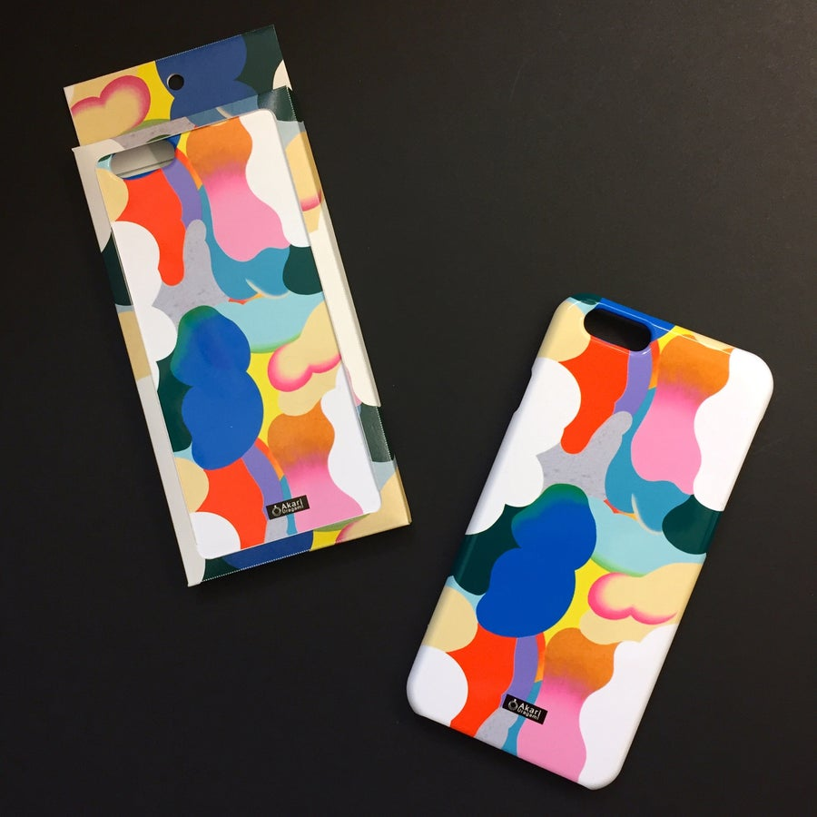 Image of Clouds iPhone case by Akari Uragami x Lik+neon