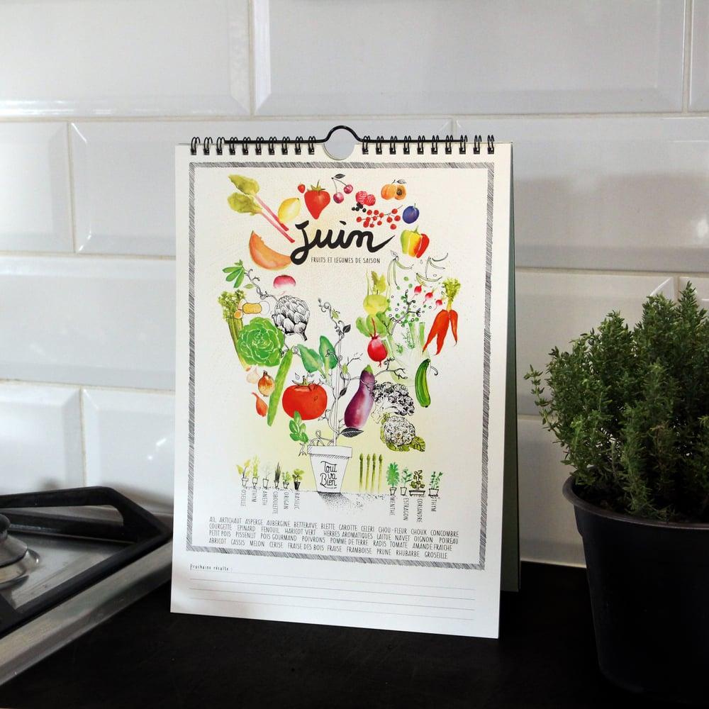 Image of Calendrier des fruits et légumes de saison