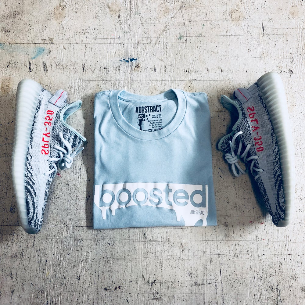"""BOOSTED  """"PINK, BLUE TINT, TAN, OR MINT"""" T-SHIRT"""