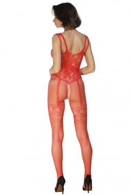 Image of Red mesh body stocking
