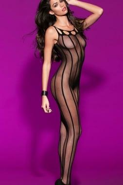 Image of Stripe sheer body stocking