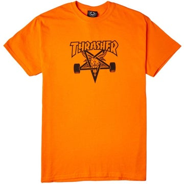 Image of THRASHER - SKATEGOAT SS TEE (SAFETY ORANGE)