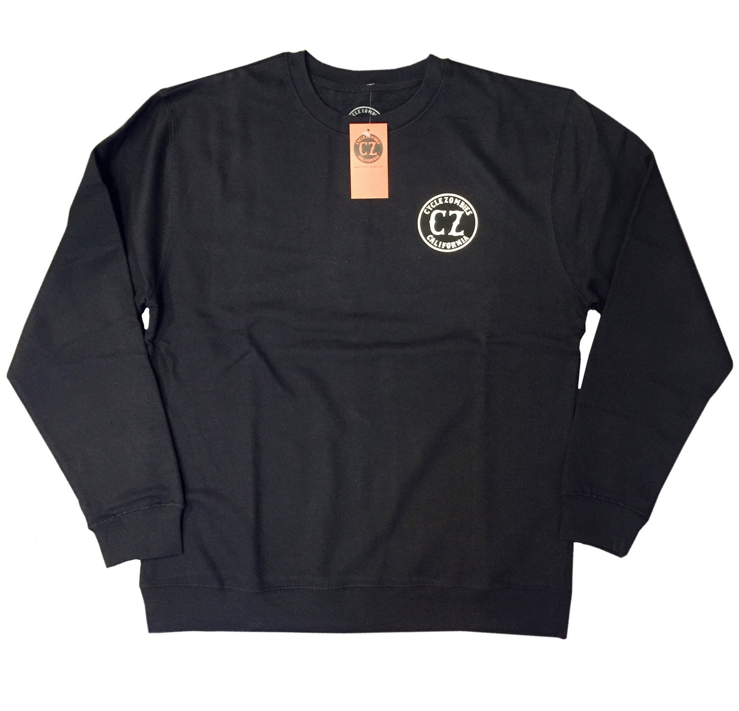 Image of Cycle Zombies crew neck sweater - Black