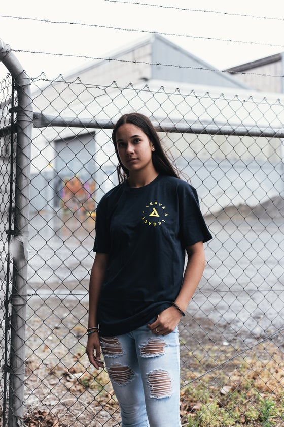 Image of Leave A Legacy Tee - Navy/Yllw