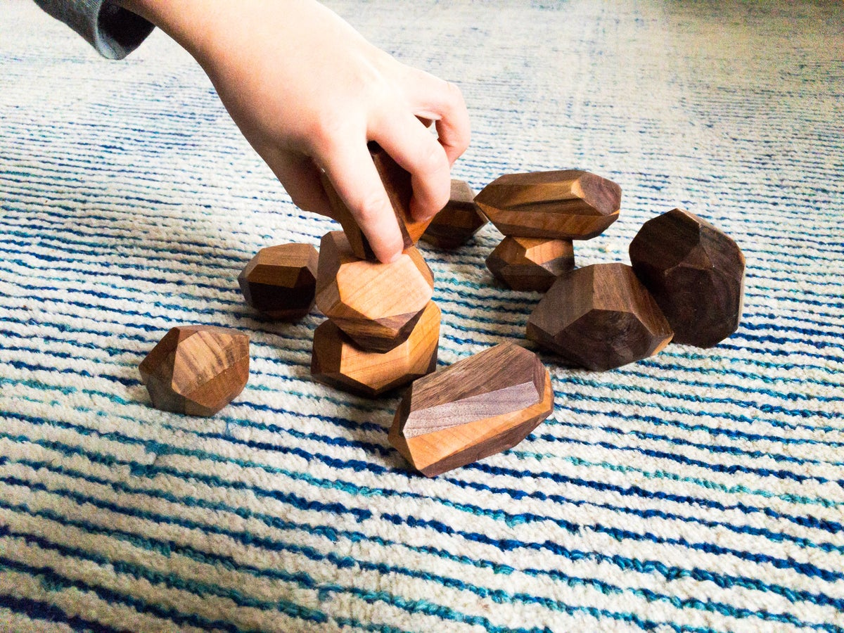 Image of Wood Rocks Set