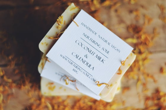 Image of Coconut Milk Calendula Soap