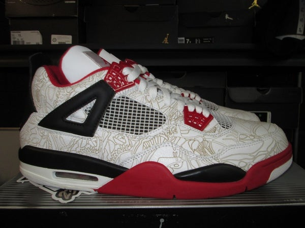 "Air Jordan IV (4) Retro ""Rare Air: White/Red"" - SIZE13ONLY by 23PENNY"