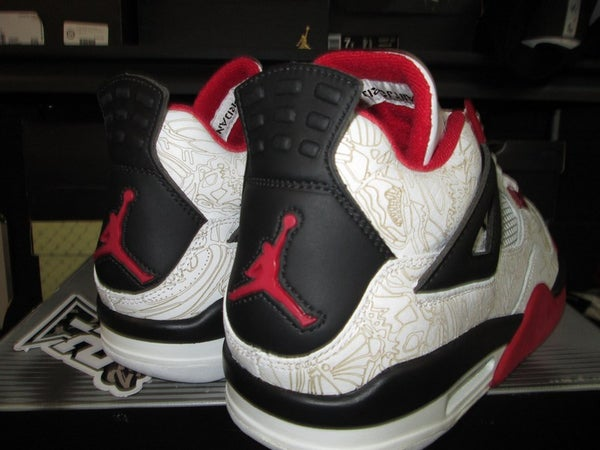 """Air Jordan IV (4) Retro """"Rare Air: White/Red"""" - SIZE13ONLY by 23PENNY"""