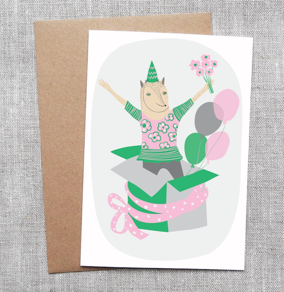 Sneaky fox graphics illustrated greeting card surprise image of illustrated greeting card surprise m4hsunfo