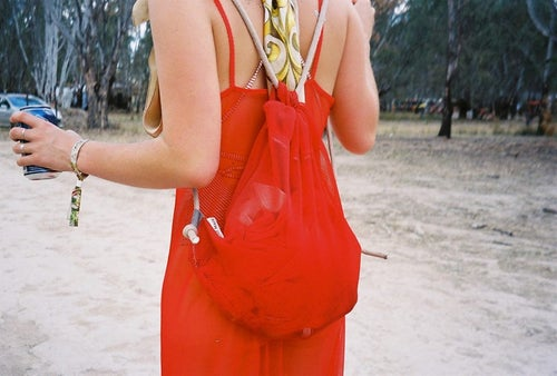 Image of Red mesh backpack