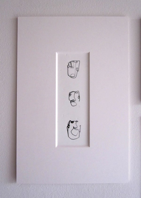 """Image of Original Drawing from """"Pulling Faces Exhibtion 2017"""" (4)"""