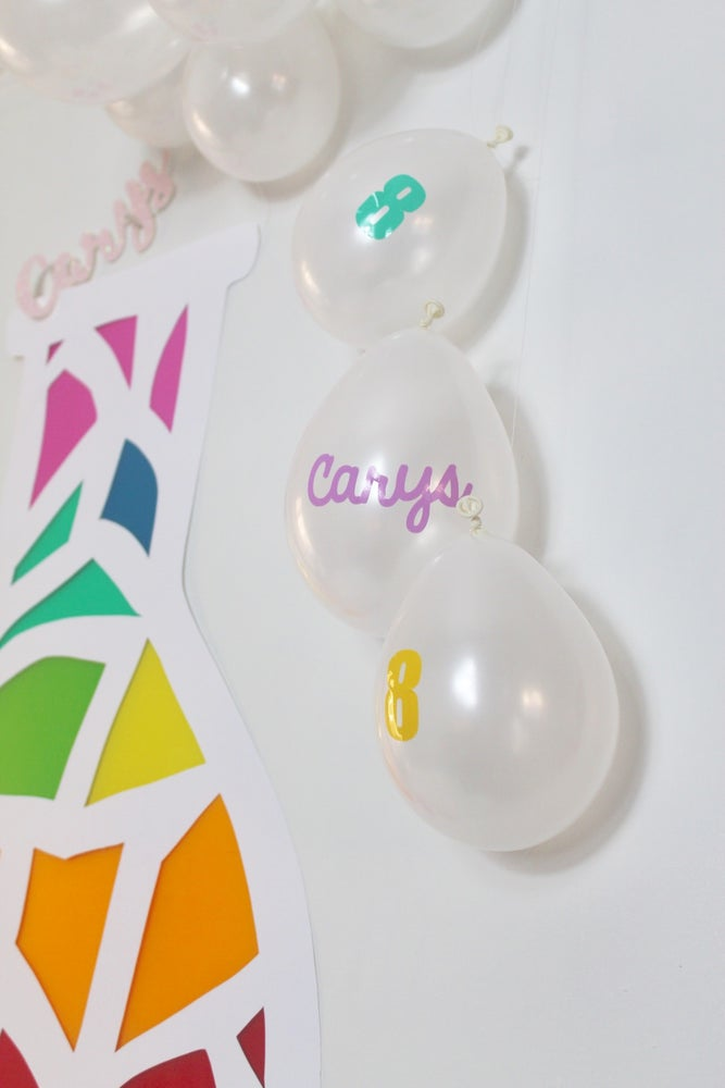 Image of Personalised balloons