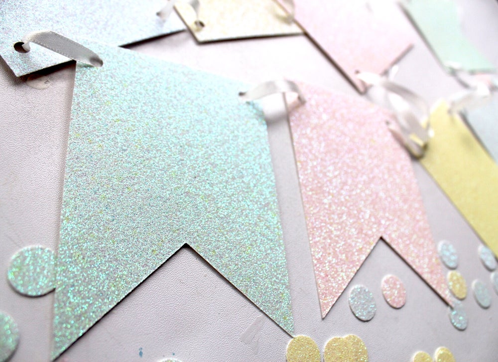 Image of Glitter flagged banner