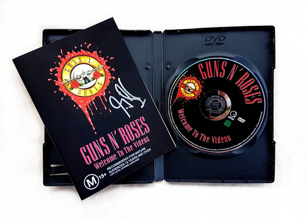 Image of DVD (SIGNED) - Guns N' Roses 'Welcome to the Videos'