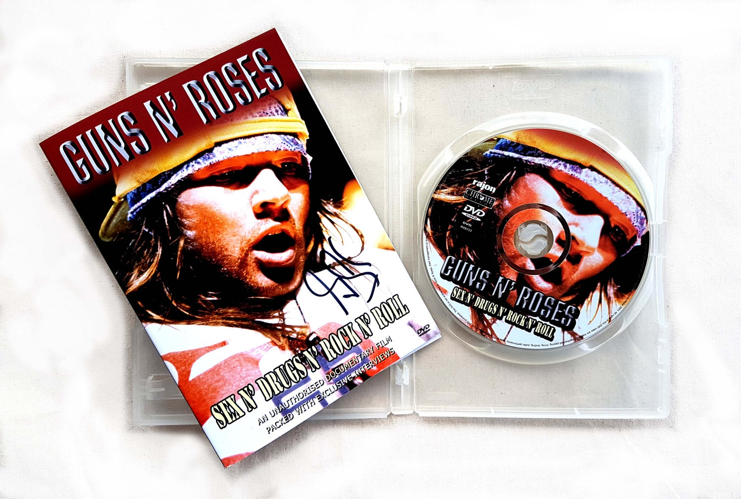 Image of DVD (SIGNED) - Guns N' Roses 'Sex N' Drugs N' Rock N' Roll'