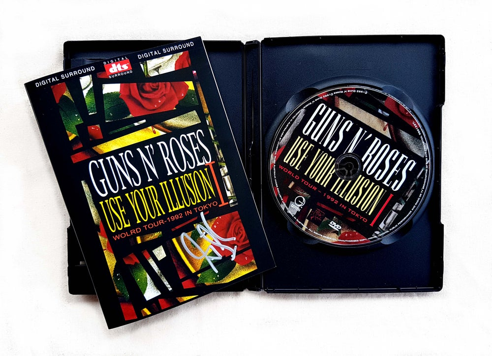 Image of DVD (SIGNED) - Guns N' Roses 'Use Your Illusion I - World Tour - 1992 in Tokyo'