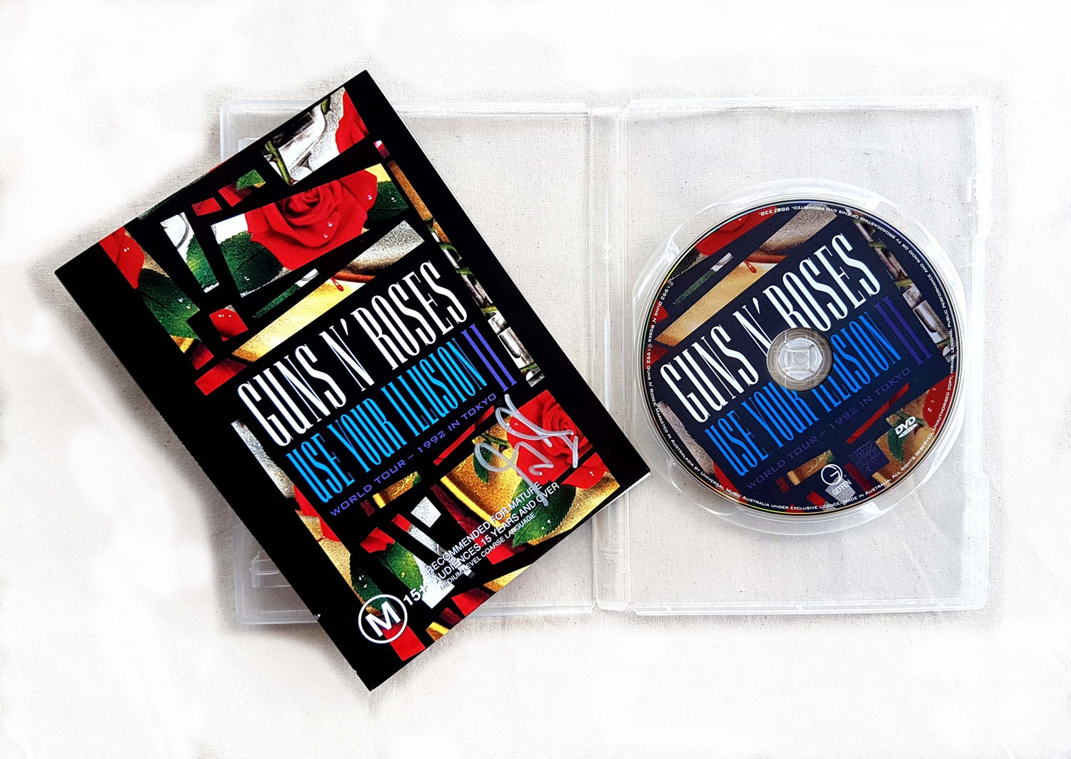 Image of DVD (SIGNED) - Guns N' Roses 'Use Your Illusion II - World Tour - 1992 in Tokyo'