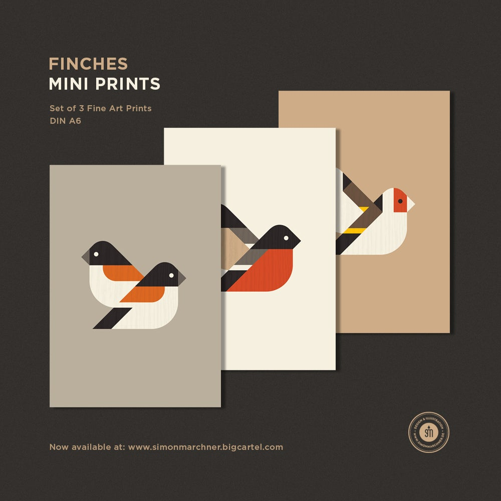 Image of Finches Mini Prints