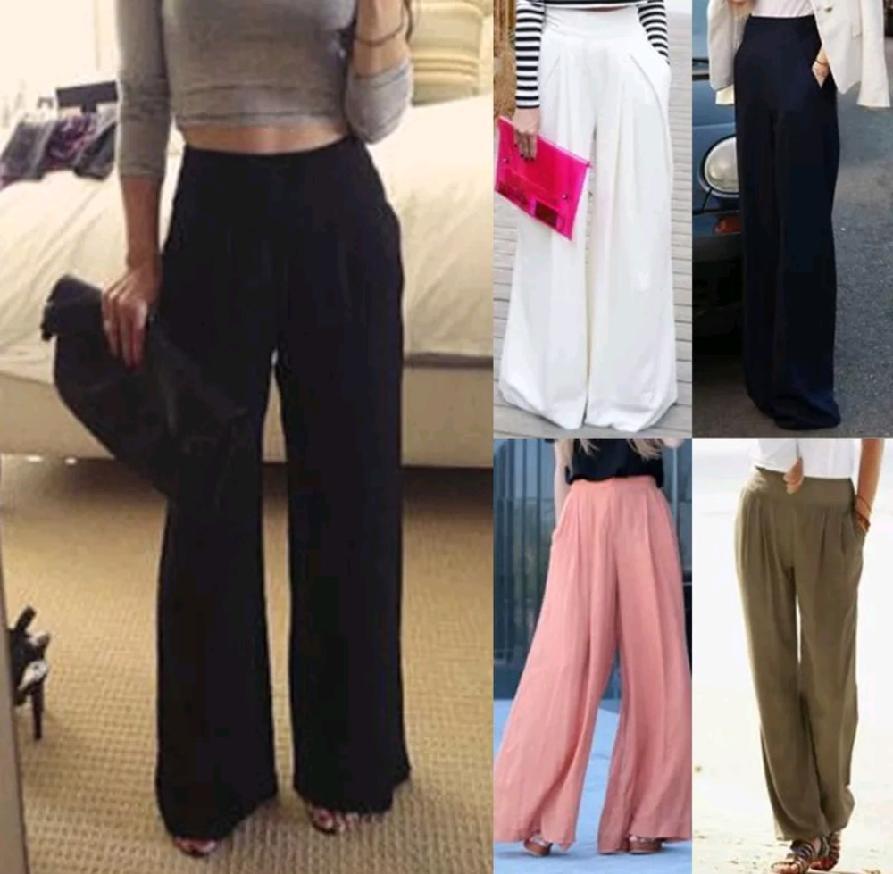 Image of Oversized Palazzo culotte trousers