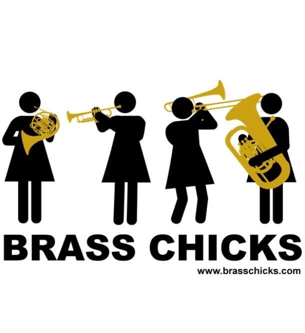 Image of Brass Chicks sticker