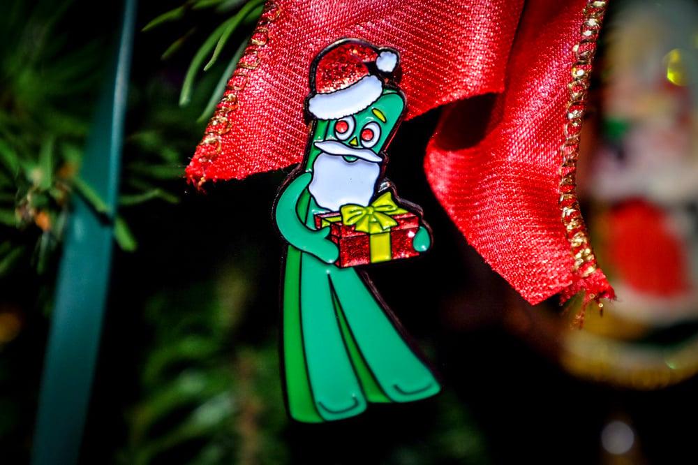 Gumby Santa Enamel Pin