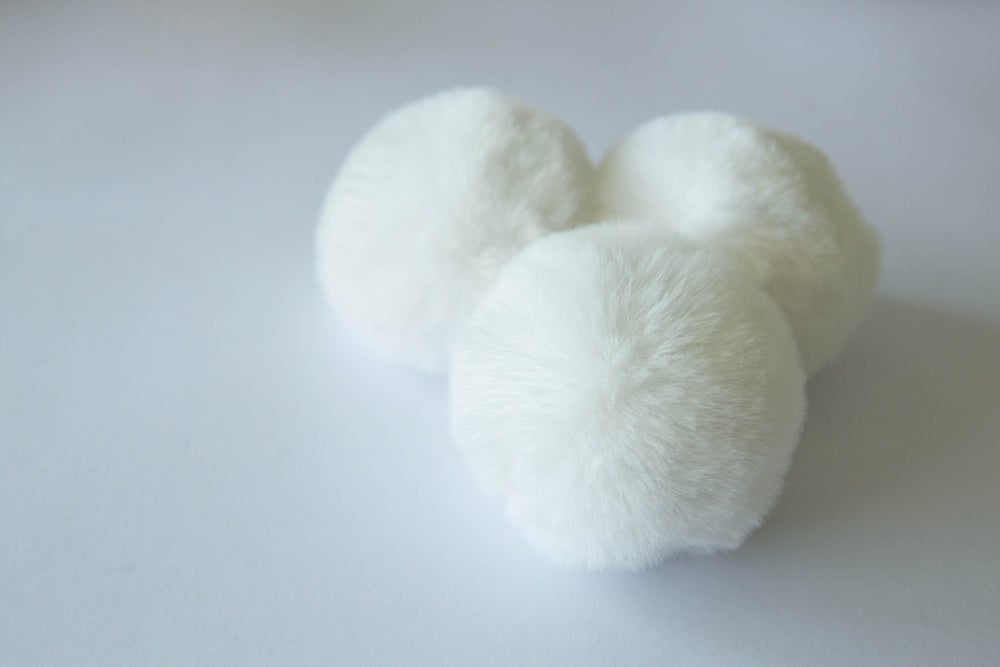 Image of Faux Fur Pompom - Cream