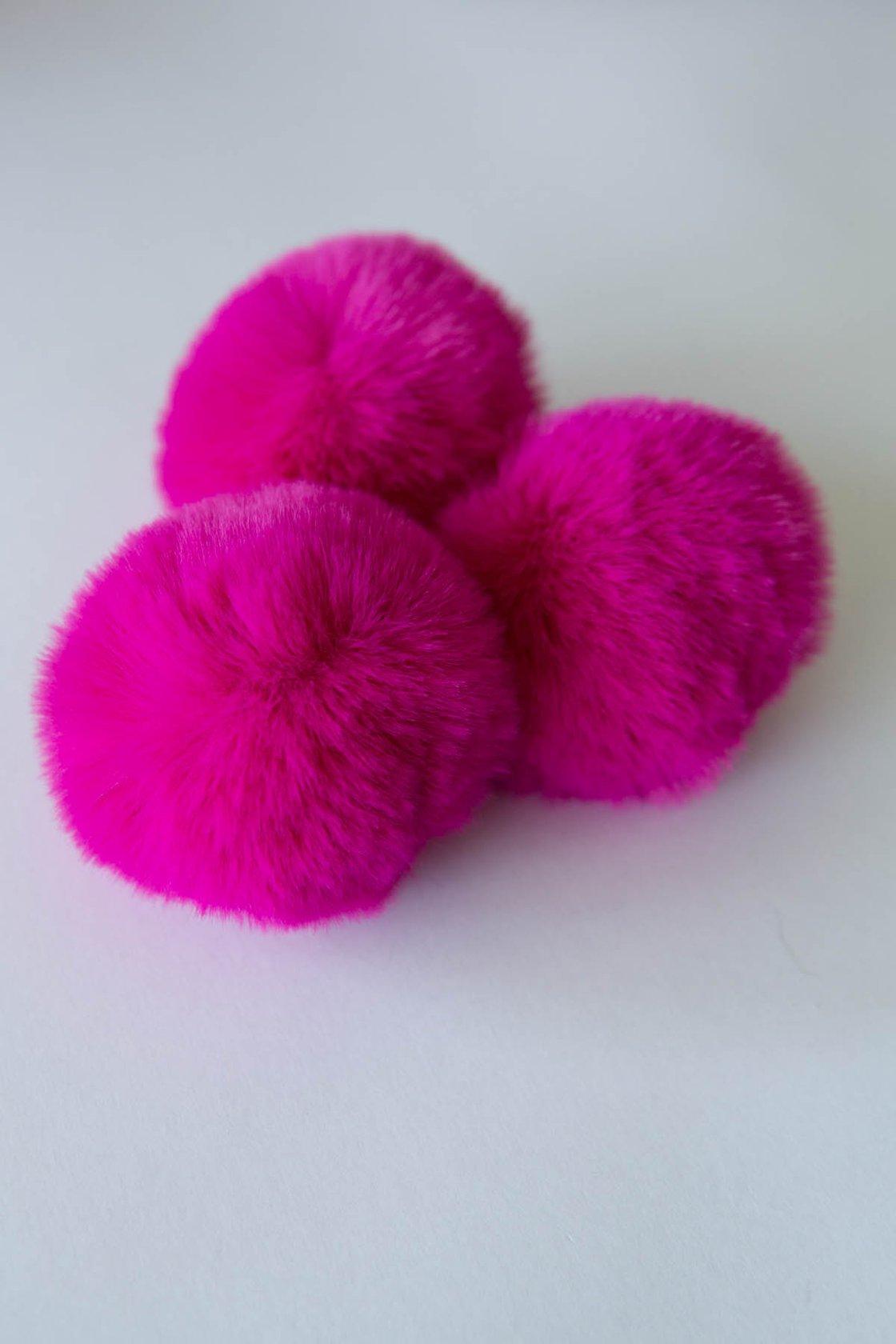 Image of Faux Fur Pompom - Magenta