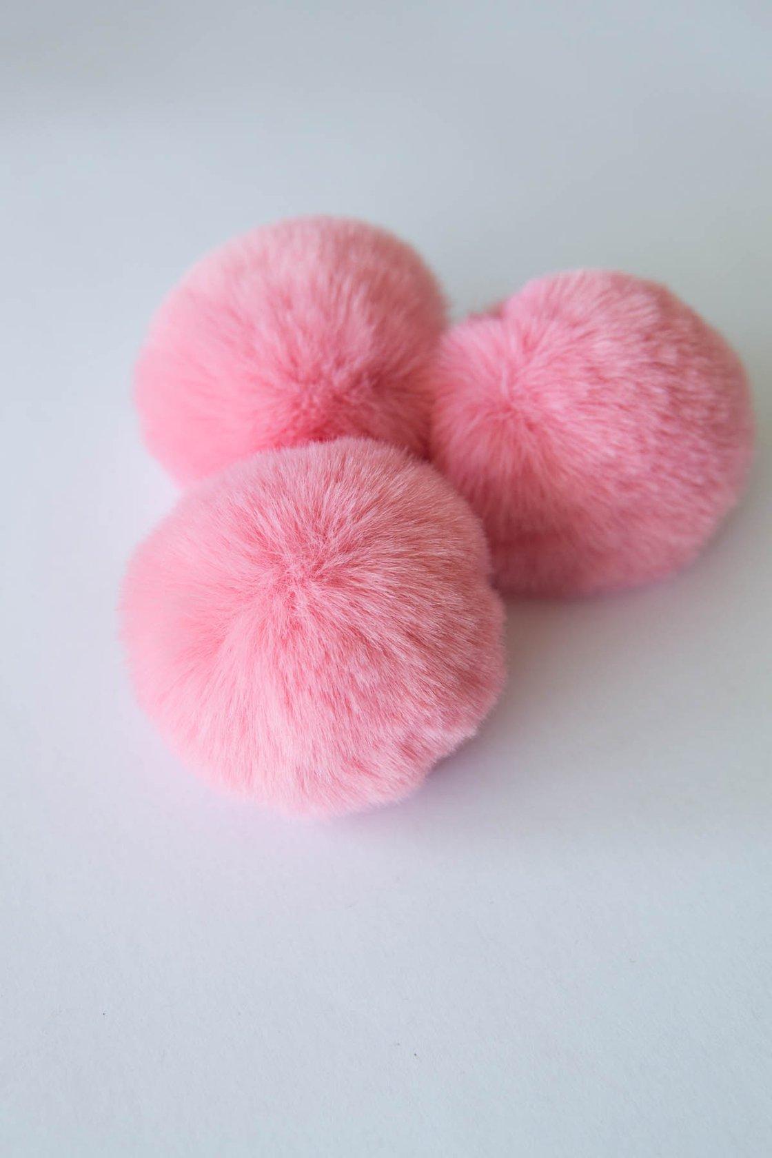 Image of Faux Fur Pompom - Pink